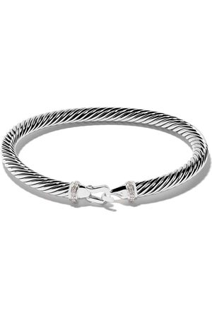 David Yurman Sterling silver Cable Collectibles diamond buckle bracelet