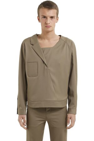 Vejas Wool Shirt With Half Lapel