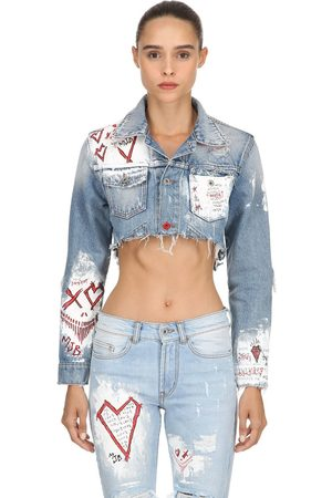 MJB - MARC JACQUES BURTON Cropped Pax Iii Hand-paint Denim Jacket