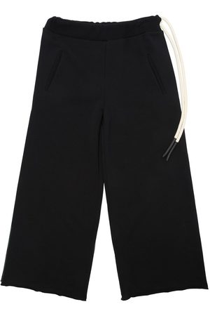 Unlabel Wide Leg Cotton Sweatpants