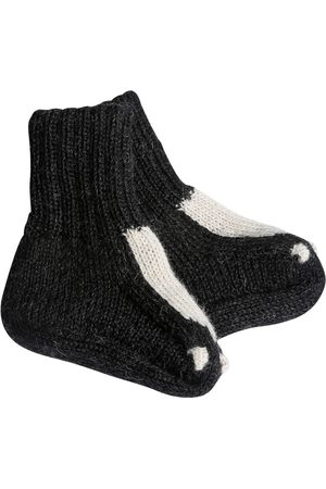 OEUF Skunk Baby Alpaca Knit Socks