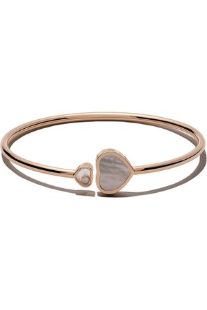 Chopard 18kt rose Happy Hearts mother-of-pearl and diamond bangle