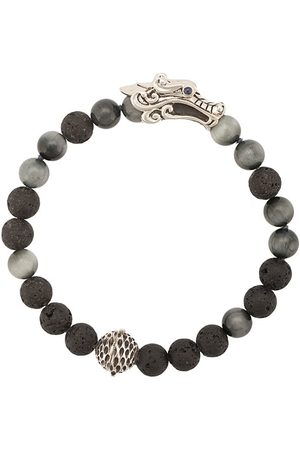 John Hardy Silver and Sapphire Legends Naga Mixed Bead Bracelet with Station