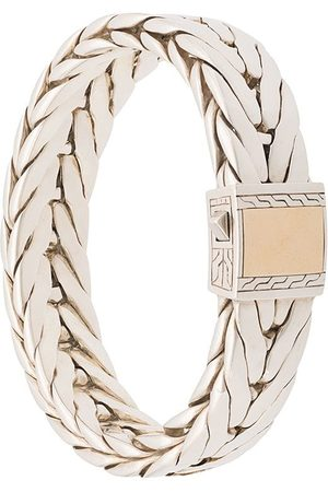 John Hardy Modern Chain Extra-Large Bracelet with 18K Yellow Gold Clasp