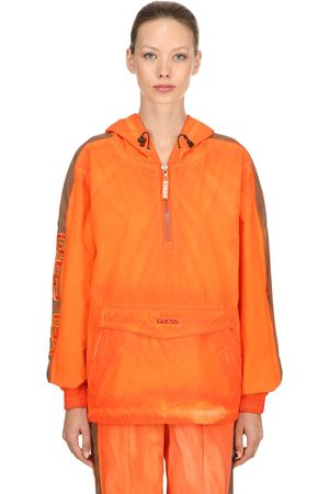 Guess Striped Hooded Nylon Jacket