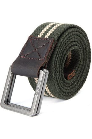 Newchic 130CM Mens Retro Double Rings Pin Buckle Belt Casual Canvas Military Tactical Waistband