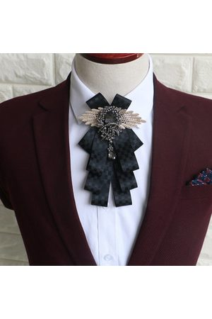 Newchic Fashion Mens Vintage Wedding Groomsmen Bow Flower Collar England Men's Business Suits Bowknots Tie