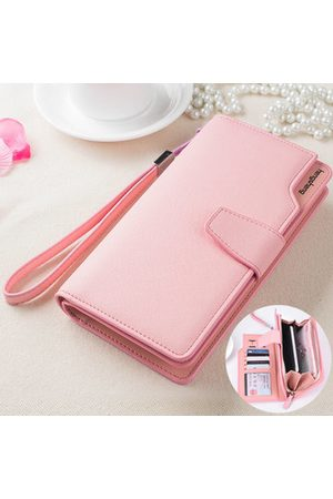 Newchic Women PU Long SIM Card Slots Wallet Purse Convenient Daily Use Wallet Portable Phone Bag