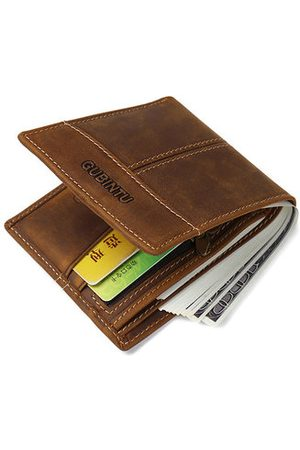 Newchic 5 Card Slots Genuine Leather Wallet Vintage Business Coin Bag Card Holder For Men