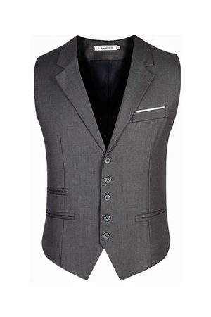 Newchic Slim Fit Pure Color Waistcoats