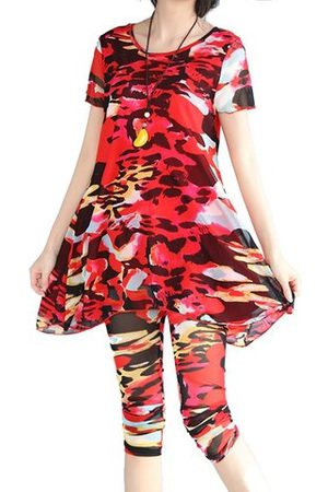 Newchic 2PCS Sexy Floral Casual Yoga Suits