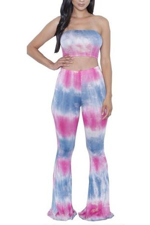 Newchic Women Gradient Printed Stretch Yoga Suits