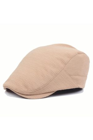 Newchic Mens Women Cotton Folded Designed Beret Hat Casual Visor Flat Forward Peaked Hat Wholesale