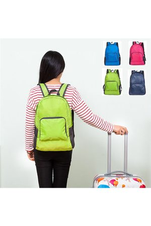 Newchic Nylon Folding Backpack Lightweight Casual Sports Travel Shoulder Bag