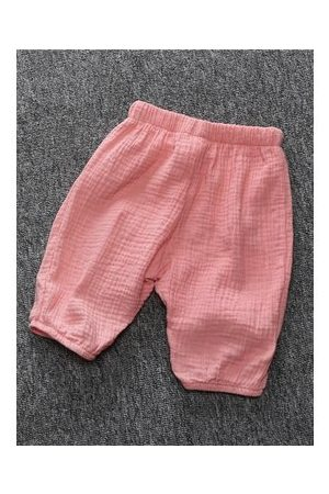 Newchic Boys Pleated Solid Color Cotton Cute Pants