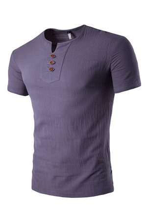Newchic Summer Chinese Style Linen Casual T Shirt