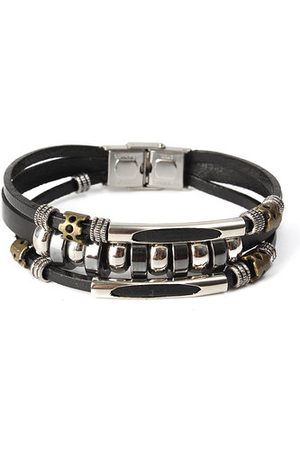 Newchic Punk Unisex Leather Bracelet