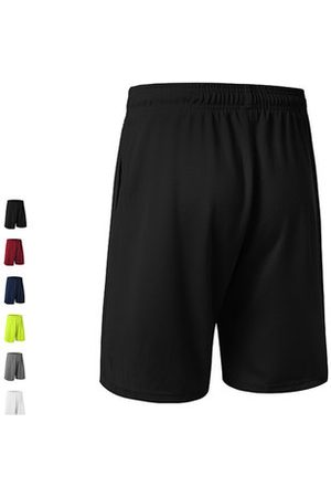Newchic Mens Training Loose Fit Breathable Quick-drying Drawstring Solid Color Basketball Sports Shorts