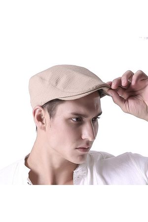 Newchic Men Hats - Men Cotton Solid Color Beret Cap Adjustable Buckle Paper Boy Cabbie Golf Gentleman Hat