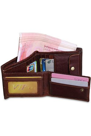Newchic Men Wallets - 12 Card Slots Genuine Leather Wallet Business Casual Coin Bag Card Holder For Men