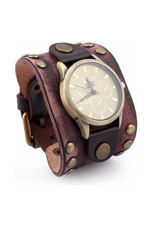 Newchic Men Bracelets & Bangles - Rock Bracelet Watch Punk Retro Leather Vintage Bracelet Men Watch