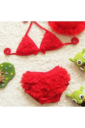 Newchic 3Pcs Girls Kids Halter Lovely Bikini
