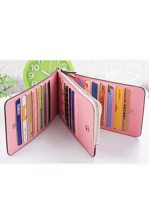 Newchic Women Microfiber Leather Multi-Card Slots Wallet Card Holders Phone Bag