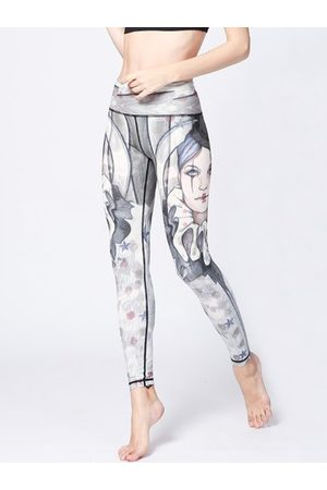 Newchic Sexy Clown Printed Stretch Workout Leggings