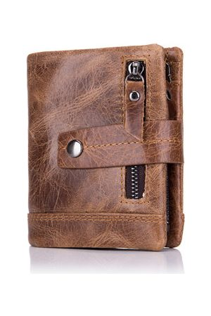 Newchic BULLCAPTAIN 13 Card Slots Wallet Genuine Leather Coin Bag