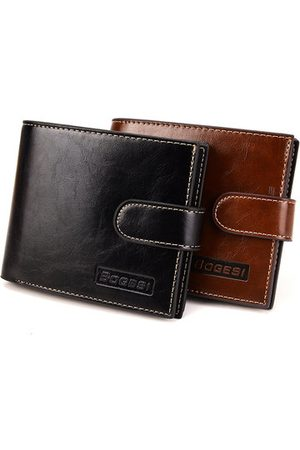 Newchic PU Leather Wallet Short Card Holder Coin Bag For Men