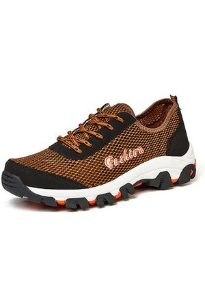 02dc4d1d671d Newchic Men Mesh Fabric Splicing Breathable Slip Resistant Outdoor Upstream  Shoes