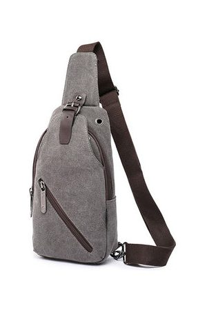 Newchic Outdoor Canvas Chest Bag 5 Colors Casual Sling Bag Crossbody Bag For Men Women