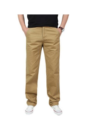 Newchic Men Cargo Pants - Mens Spring Fall Cotton Cargo Pants Regular Fit Solid Color Casual Business Trouser