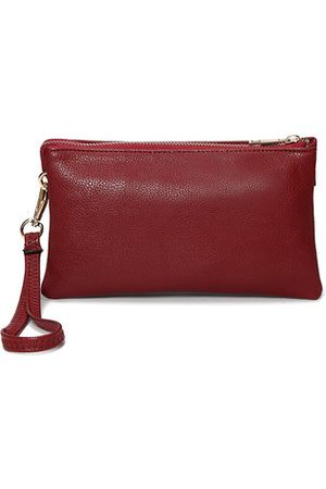 Newchic Women Clutches - Three-layers PU Leather Pure Color Shoulder Bags