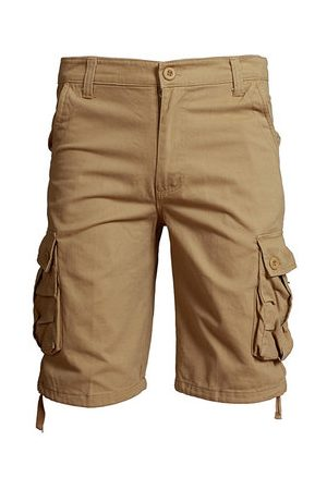 Newchic Outdoor Men's Casual Straight Cargo Pants Plus Size Wearable Beach Loose Shorts