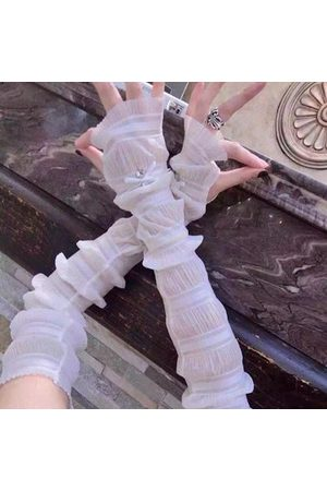 Newchic Women UV Protection Lengthen Arm Sleeves Outdoor Driving Sunscreen Long Gloves Cuff