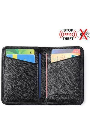 Newchic RFID Antimagnetic Genuine Leather Wallet 6 Card Slots Credit Card Holder For Men
