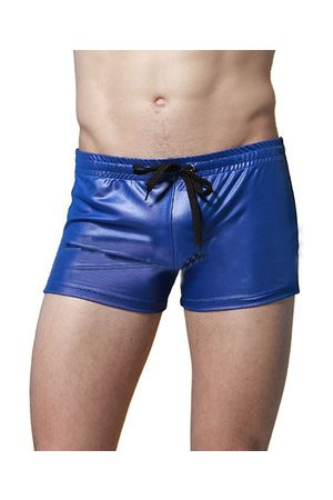 Newchic Men Underwear - Swimming Beach Swinmsuits Hot Spring Imitation Leather Sport Boxers Trunks for Men