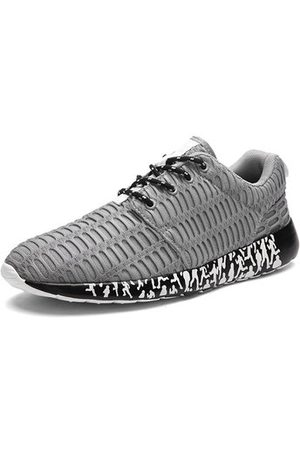 Newchic Men Shoes - Big Size Men Mesh Fabric Breathable Sport Running Shoes Casual Sneakers