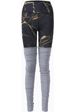 Newchic Women Patchwork Printed Stretched Workout Pants