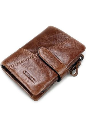 Newchic Men Wallets - 8 Card Slots Genuine Leather Card Holder Coin Bag Wallet
