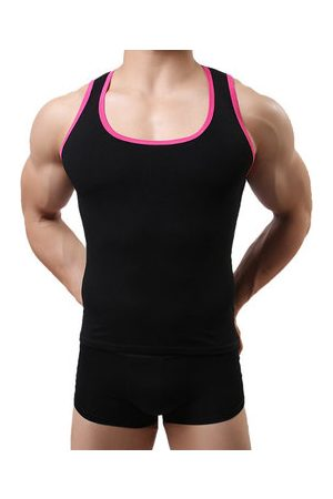 Newchic Mens Sexy Fitness Training Tight Vest High-elastic Sleeveless Sport Tank Tops