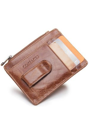 Newchic Genuine Leather 5 Card Slots Card Holder Portable Wallet Coin Bag For Men