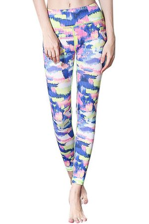 Newchic Mid Waist Patchwork Yoga Pants for Women
