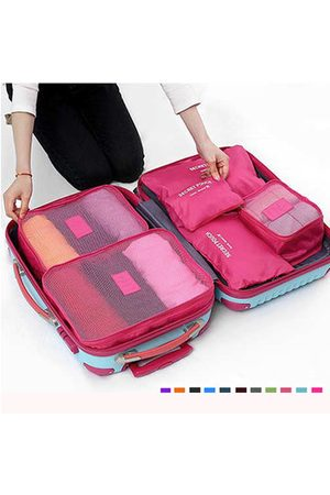 Newchic 6Pcs Waterproof Cube Travel Storage Bags