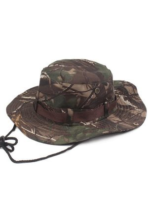 Newchic Mens Wide Brim Jungle Visor Fisherman Hats Outdoor Camping Hunting Military Bucket Hat