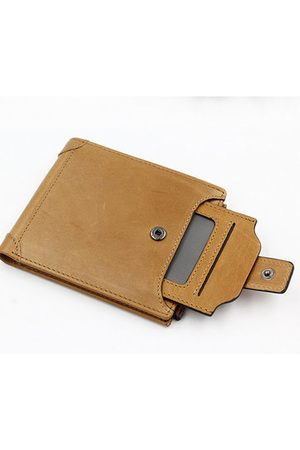 Newchic Genuine Leather Wallet 6 Card Slots Vintage Coin Bag Card Holder For Men