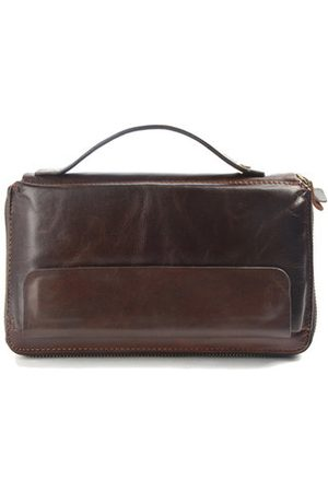Newchic Business Genuine Leather Clutch Bag 8 Card Holders Wallet Coin Bag Phone Bag For Men