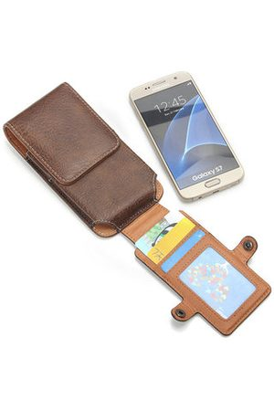 Newchic Men Wallets - Casual Men 3 Card Holders Waist Bag Portable Pu Leather Phone Bag For Iphone