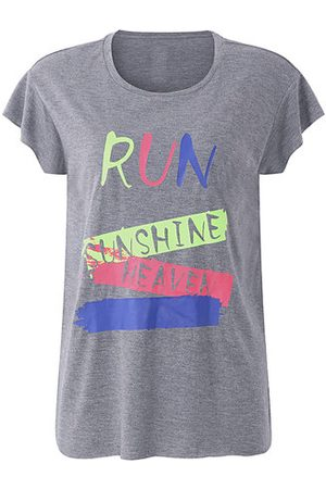 Newchic Letter Printed Short Sleeve Sport T-shirts